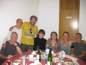 Some of my group at our final dinner in Santiago de Compostella (the night of the applause)