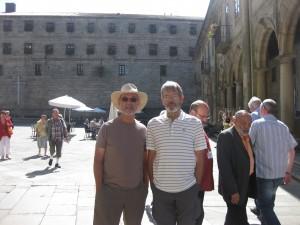 My dad and Len in Santiago de Compostella